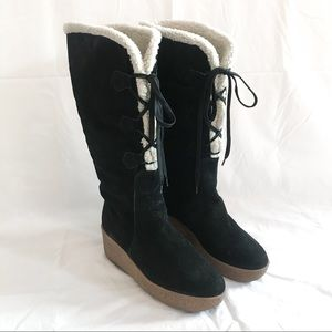 Michael Kors Suede Leather Shearling Boots